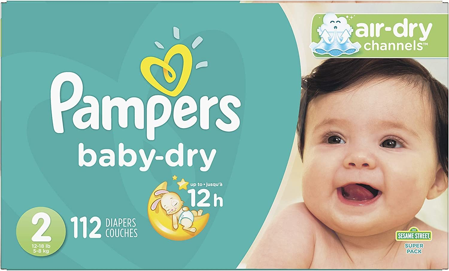 34% Discount - Pampers Baby Diapers (Size 2, 112 Count)