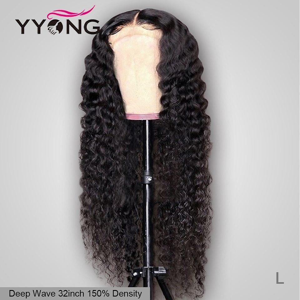 5x5 6x6 Brazilian Deep Wave Lace Closure Wigs Pre Plucked Hairline With Baby Hair Remy 100% Human Hair Wig 150% Density