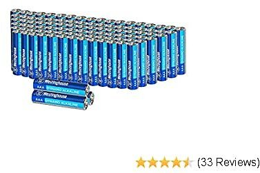 Westinghouse Alkaline AAA Batteries (Bulk Pack 96 Count), Leak-Proof & Long-Lasting Technology Triple A Primary Batteries with Lasting Power for High Drain Devices