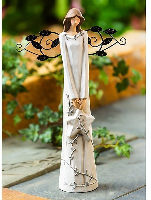 Ceramic Angel Star-In-Hand Statue
