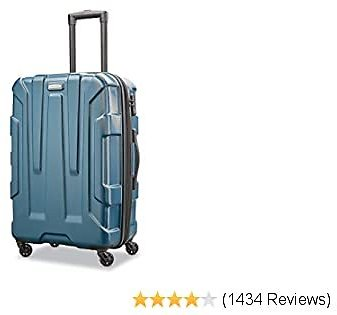 Samsonite Centric Hardside Expandable Luggage with Spinner Wheels, Teal, Carry-On 20-Inch