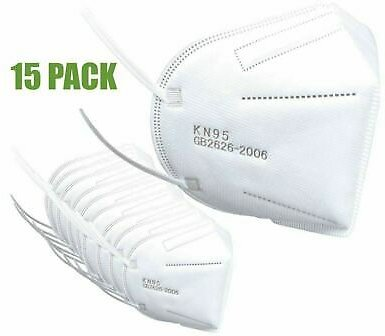 Protective KN95 Face Mask Certified Respirator - 15 Pack