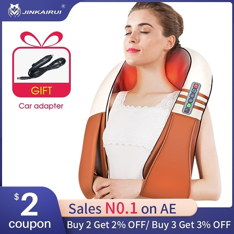 US $31.68 28% OFF|(with Gift Box)JinKaiRui U Shape Electrical Shiatsu Back Neck Shoulder Body Massager Infrared Heated Kneading Car/Home Massagem|massage Infrared|body Massagercar Back Massage - AliExpress