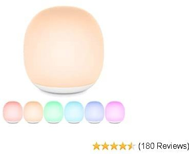 Gladle Wireless Baby Night Light for Kids Up to 100hrs, Dimmable LED Nursery Lamp for Breastfeeding, Touch Bedside Lamp for Children with Color-Changing, 1h Timer, Built-in Magnet, Night Light Mode