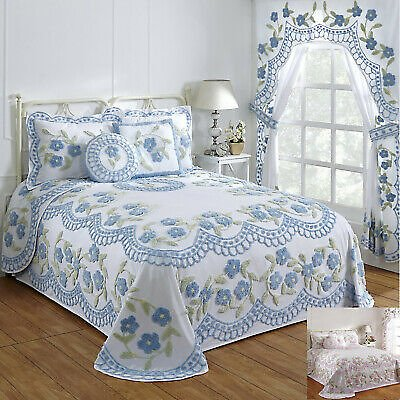 Better Trends Bloomfield 100% Cotton Tufted Chenille Bedspreads & Accessories