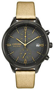 Citizen Eco-Drive Women's Chandler Chronograph Leather 39mm Watch FB2007-04H