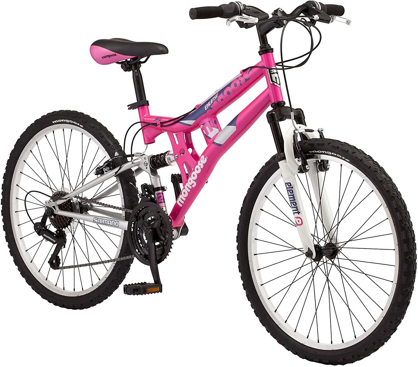 Mongoose Exlipse Full Dual-Suspension Mountain Bike for Kids