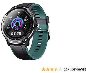 Smart Watch for Health & Fitness Tracker with Heart Rate Monitor, Activity Tracker, Step Counter, Sleep Monitor, Calorie Counter, 1.3'' for Android and IOS Phone IP68 Waterproof(Bonus 2 Watchbands)