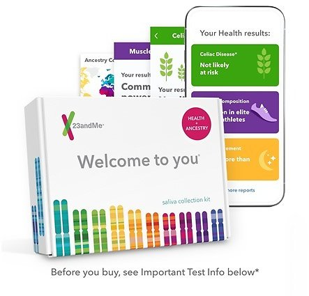 23andMe Health + Ancestry Service: Personal Genetic DNA Test Including Health Predispositions, Carrier Status, Wellness