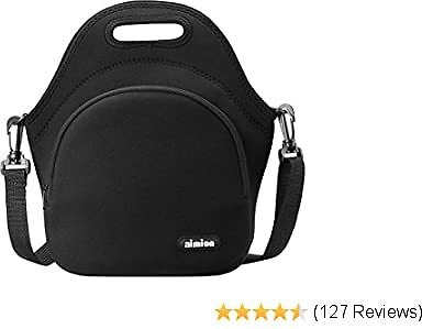 Lunch Bags for Women Men Boys Girls,Kids Lunch Bags Foldable Lunch Boxes Extra Pocket Premium Insulated Lunch Tote with Shoulder Strap Neoprene Handbags for Outdoor Work Travel Picnic Shopping