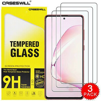 For Samsung Galaxy Note 10 S10 Lite HD Clear Tempered Glass Screen Protector X3