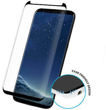 For Samsung Galaxy S8 Full Curved 3D Tempered Glass Screen Protector -Black