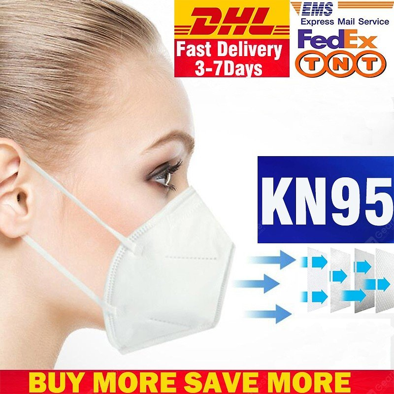 KN95 Mask Disposable Non-Medicial Breathable Protective Filtration Cotton Mask Dust -Factory Supply - 5PCS