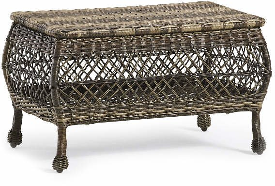 Real Living Westbrook All-Weather Wicker Storage Patio Coffee Table - Big Lots