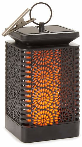 Wilson & Fisher Medallion Cut-Out Flame LED Solar Lantern - Big Lots