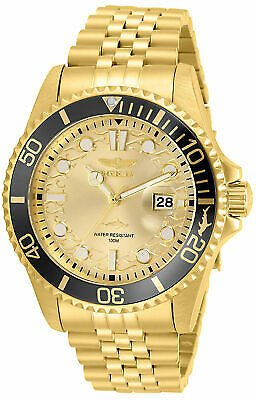 Get 92% Off For Invicta Men's Watch Pro Diver Yellow Gold Plated Stainless Steel Bracelet