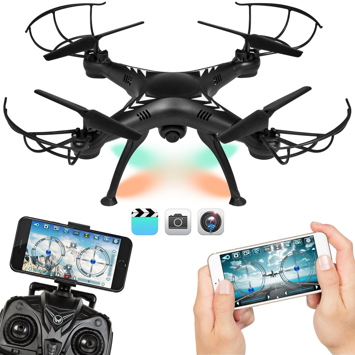 Best Choice Products 2.4G 6-Axis FPV RC Voice Command Quadcopter Drone w/ 720P HD WIFI Live Video Cam, Altitude Hold