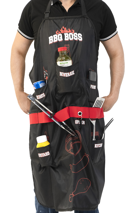 77% Off BBQ Boss Apron With Multi Pockets
