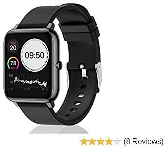 UWINMO Smart Watch for Android and IOS Phone, Sports Smart Watch with Blood Pressure & Heart Rate Monitoring , Sleep Monitor,Pedometer with Message Notification , Smart Watch for Men & Women(Black)