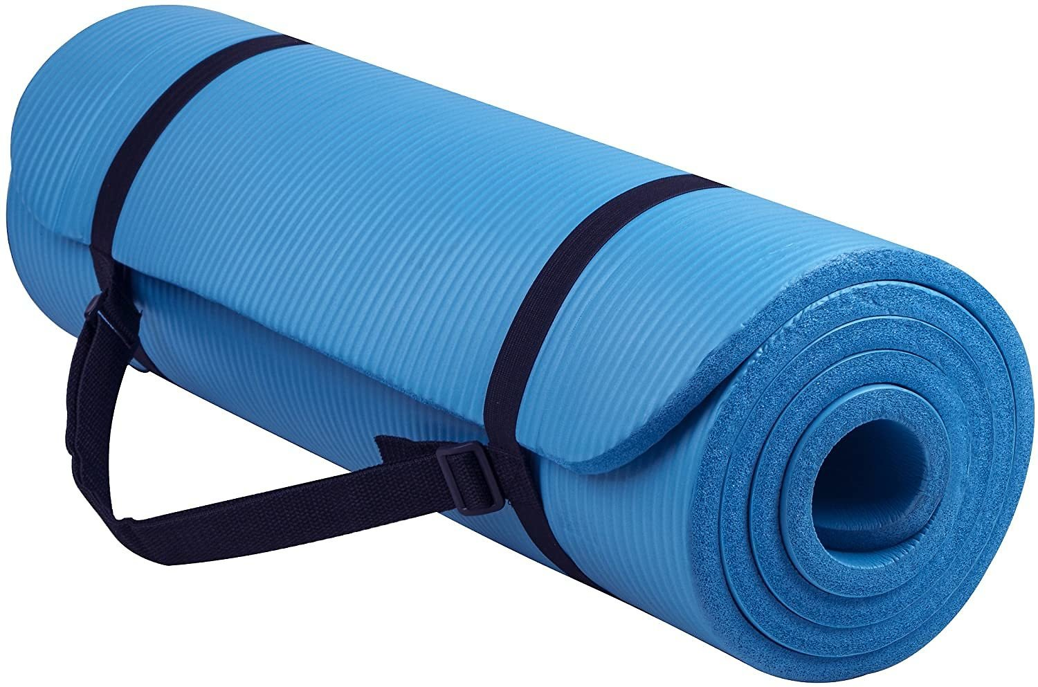 Yoga Mat with Carrying Strap (1/2-Inch Extra Thick High)