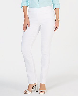 Charter Club Cambridge Skinny Pull-On Tummy-Control Pants, Created for Macy's & Reviews - Pants & Leggings - Women