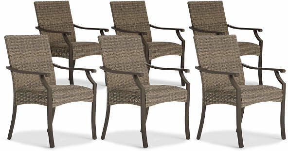 Broyhill Patio All-Weather Wicker Dining Chairs, 6-Pack - Big Lots