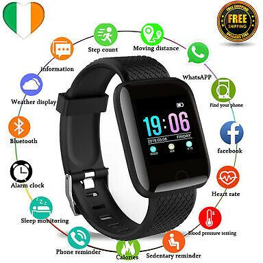 Smart Watch Bracelet Activity Tracker Fitness Heart Rate Monitor for IOS Android