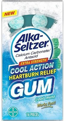 Alka Seltzer Heartburn Relief Cool Mint Gum - 16ct (50% Off with Target Circle)
