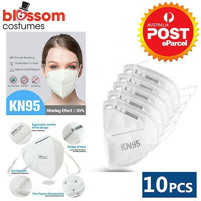 KN95 10pcs Face Masks Disposable CE Anti Dust Respirator Filter Medical Surgical