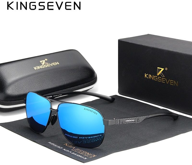 66% OFF $8.84 |KINGSEVEN 2020 Brand Men Aluminum Sunglasses Polarized UV400 Mirror Male Sun Glasses Women For Men