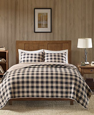 Buffalo Check Reversible 3-Pc. Oversized Full/Queen Quilt Mini Set
