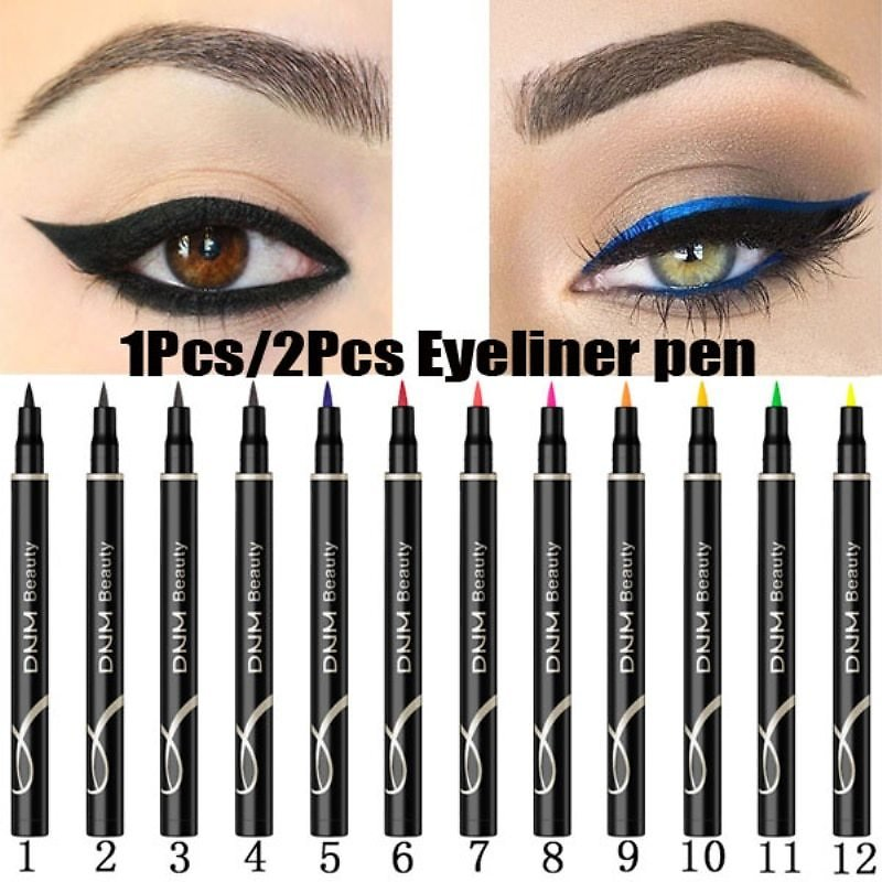 DNM 1Pcs Colorful Matte Liquid Eyeliner Pencil Waterproof Smudge-proof Pigment Party Blue White Eye Liner Cosmetic Tools TSLM2