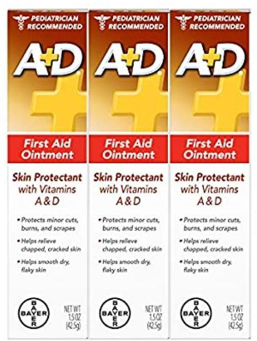 A+D First Aid Ointment - Moisturizing Skin Protectant for Dry Cracked Hands, Elbows, Heals and Lips - Use After Hand Washing – 1