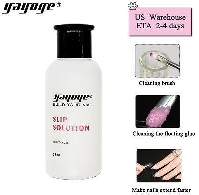 US STOCK 58ml Slip Solution Nail Liquid Poly Hard Gel Kit For Nail Extension