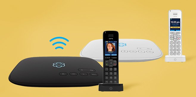 Ooma VoIP Telo Air 2 with HD3 Handset Home Phone Service (2 Colors) | Costco