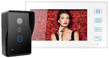 2.4G Wireless Video Intercom Doorbell 7in TFT LCD Touch Button with Record Snapshots