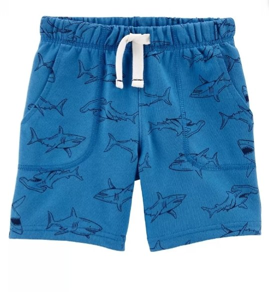 Shark Pull-On French Terry Shorts
