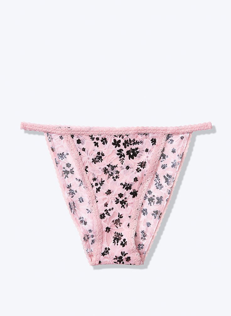 PINK Lace High-Leg Bikini ONLINE EXCLUSIVE!