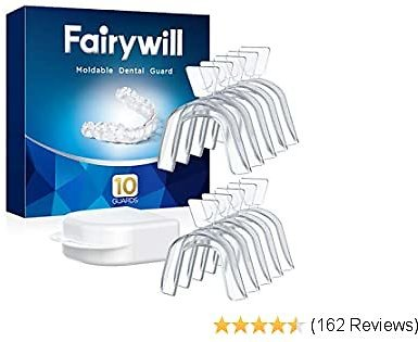 Fairywill Mouth Guard for Grinding Teeth, 10 Packs, BPA-free, Night Guards for Teeth Grinding, Bruxism, Teeth Whitening Trays