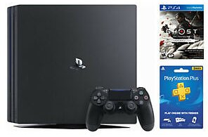 18%OFF PlayStation 4 Pro 1TB + Ghost of Tsushima Launch Edition + PS Plus 3 Month