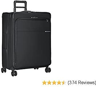 Briggs & Riley Baseline-Softside CX Expandable Large Checked Spinner Luggage, Black, 28-Inch
