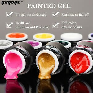 YAYOGE Painting Gel UV Nail Gel Drawing Link Gel Lacquer Nail Art Tips UK