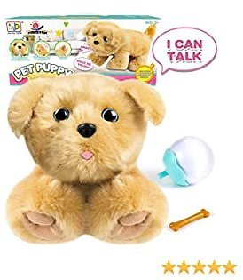 Plush Stuffed Animal Dog Toy Interactive Plush Animated Pet Toy Educational Puppy Pet Toy with Talking, Singing, Barking Touch Control Stuffed Plush Electronic Dog, Gift for Toddler Kids Boys Girls