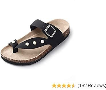 55% Off SANDALUP Slide Sandals Inlaid with Pearls Flip Flop for Women