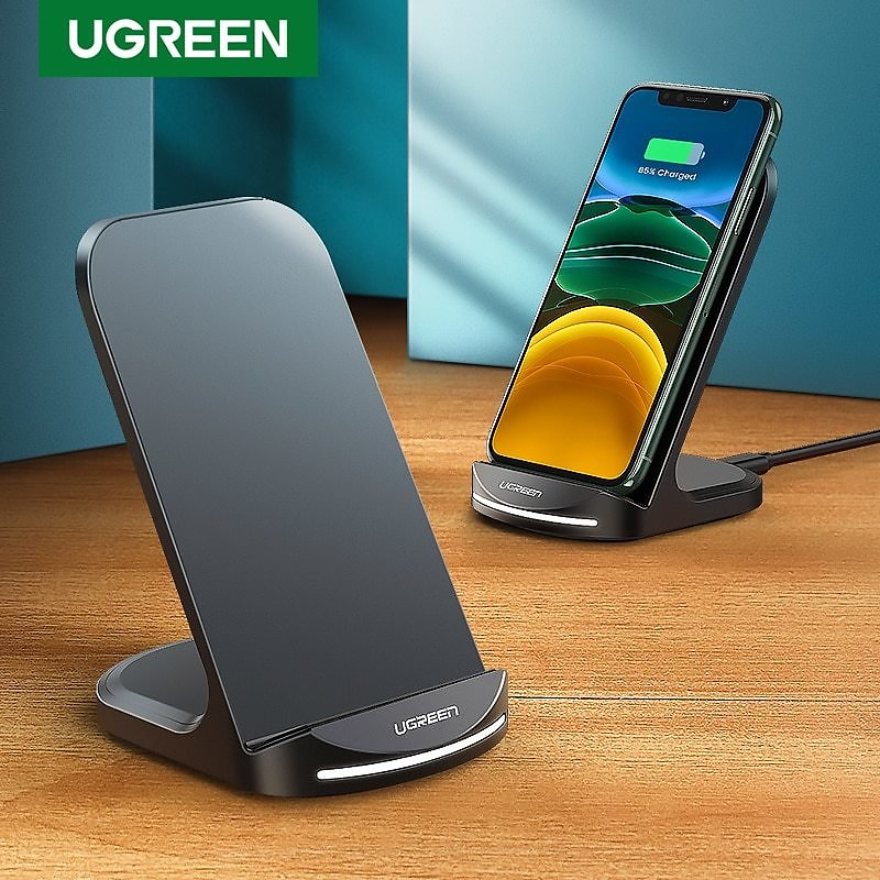 US $18.33 45% OFF|Ugreen Qi Wireless Charger Stand for IPhone 11 Pro X XS 8 XR Samsung S9 S10 S8 S10E Fast Wireless Charging Station Phone Charger|Wireless Chargers| - AliExpress
