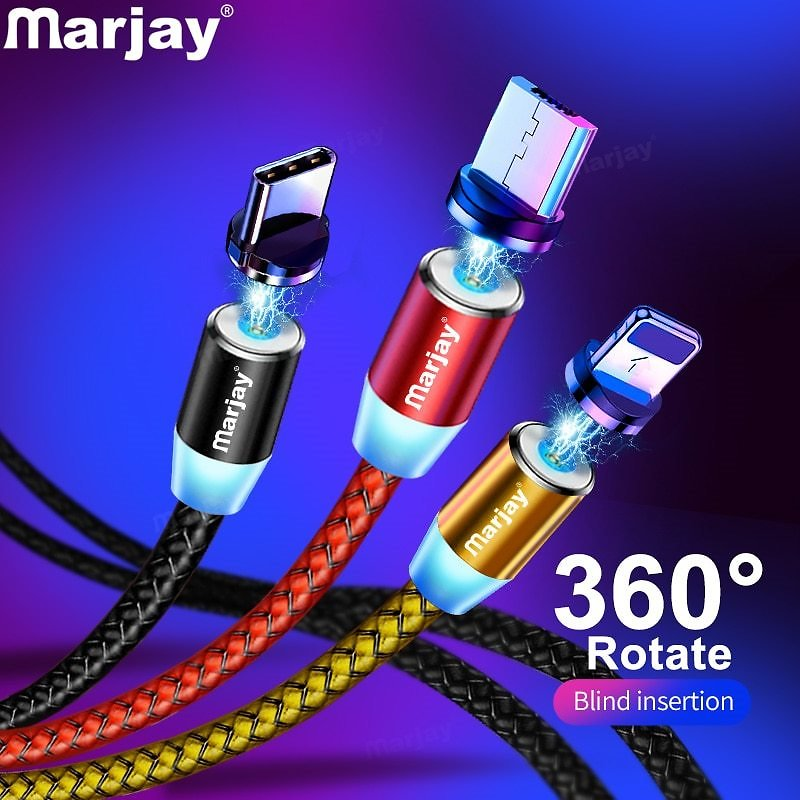 41% OFF|Marjay Magnetic Micro USB Cable For IPhone Samsung Android Fast Charging