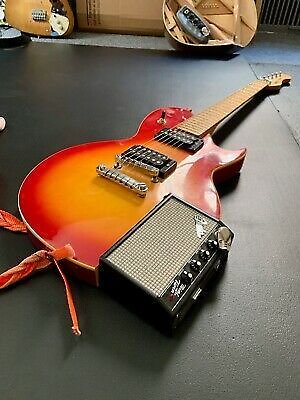 Rubytone Electric Guitar with Built-in Amplifier SEE VIDEO