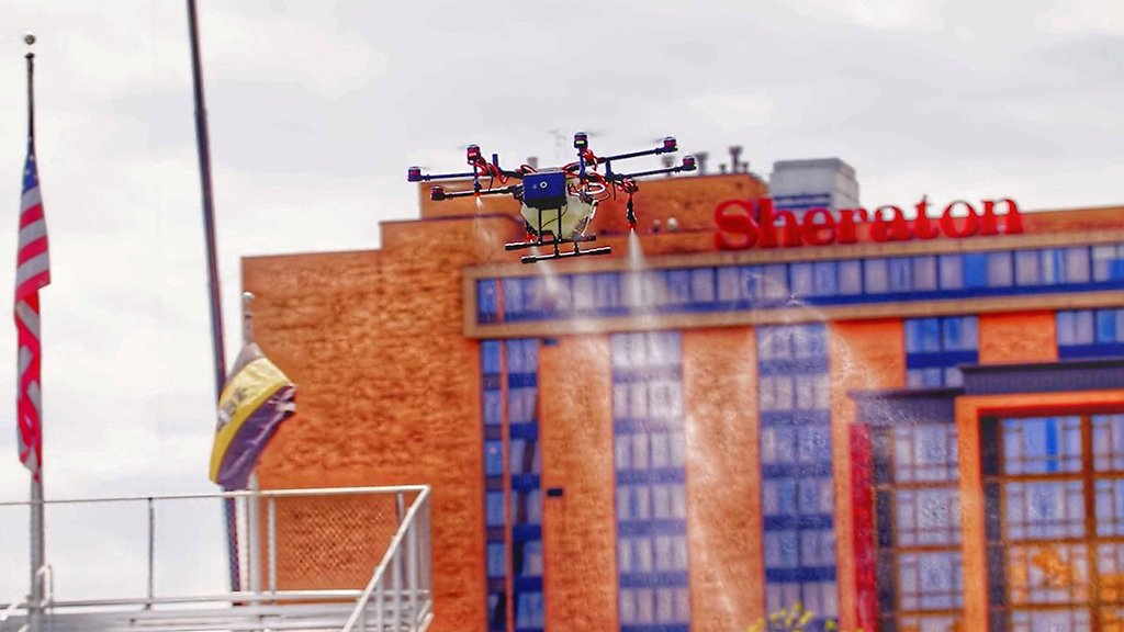 Pittsburgh-Area Company Develops Electrostatic Drone That Could Disinfect Stadiums In Three Hours