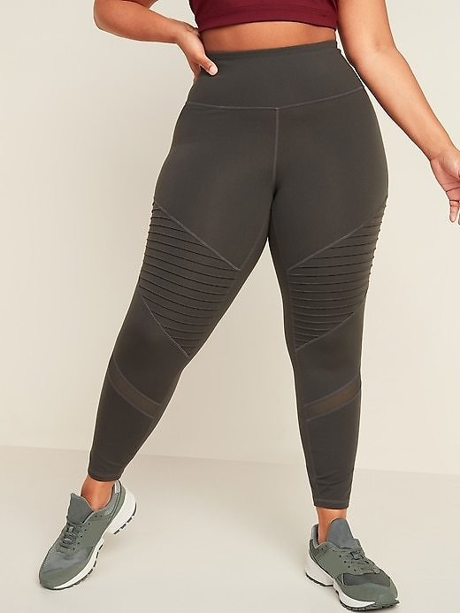 High-Waisted Elevate Moto Plus-Size 7/8-Length Leggings   Old Navy