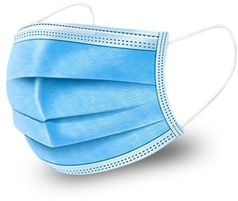 3 Ply Disposable Face Masks 3-Layer Dustproof Earloop Mask Anti Haze Particulate Droplets Protection Respirator 50pcs